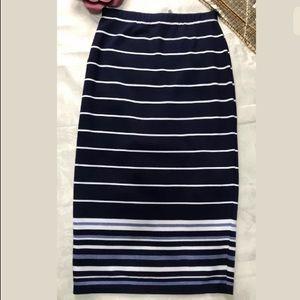 MAX STUDIO Striped Maxi Skirt Size XS NEW